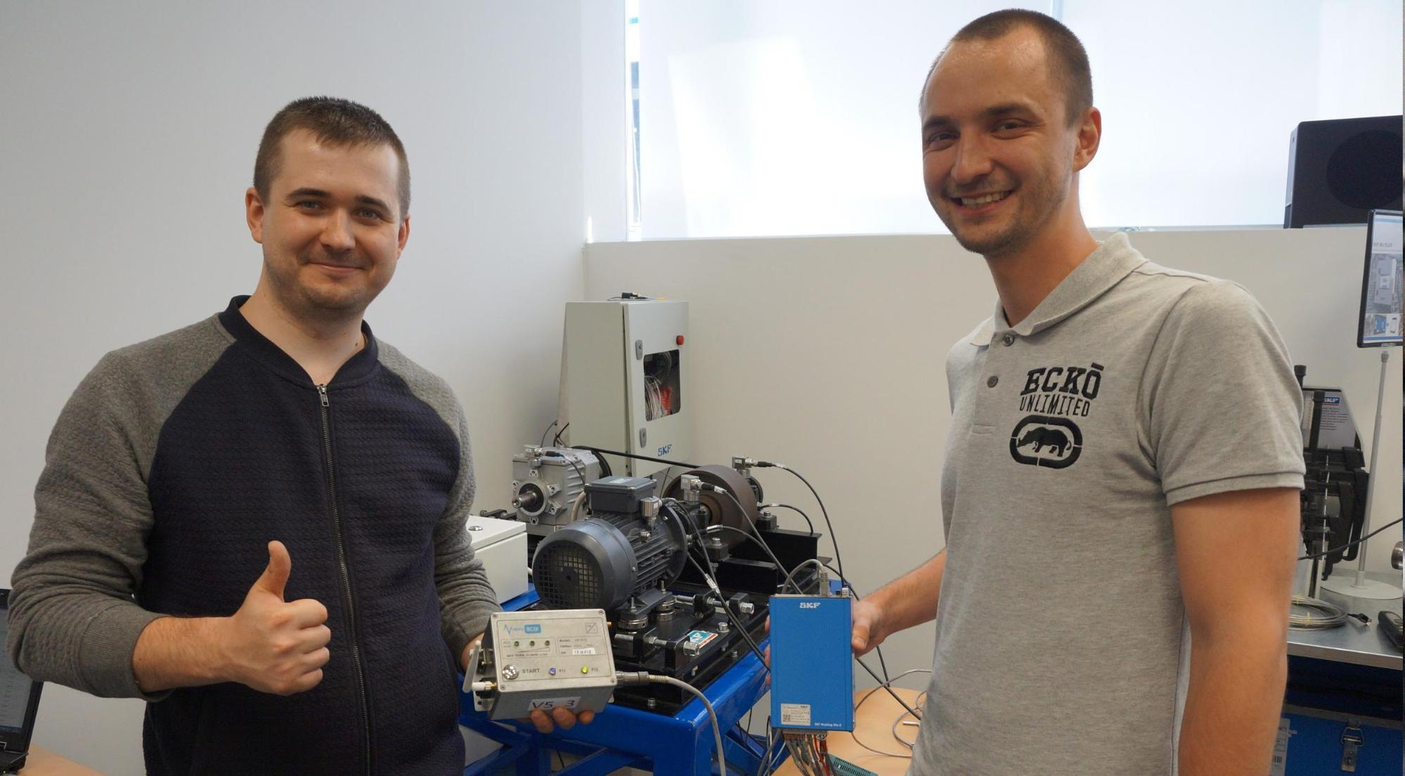 Sergey Vasukevich with SKF colleague